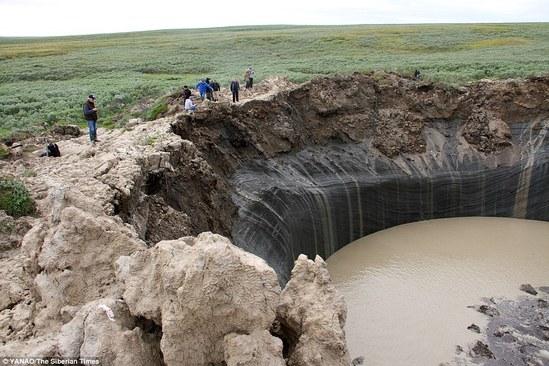 西伯利亚坑洞图片