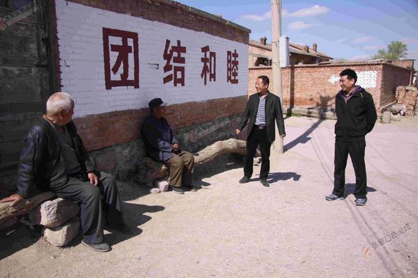 """水泉村""""三大工程""""将渐次开工 工作组走访村民。 王玮 摄"""