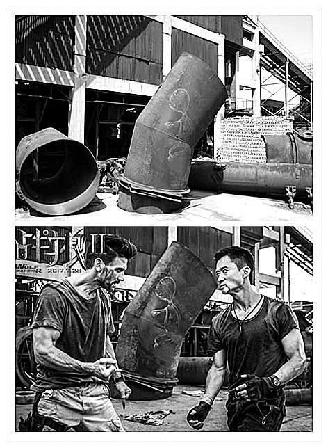 《战狼2》拍摄地赵川铁厂借势转型 电影场景与实景。