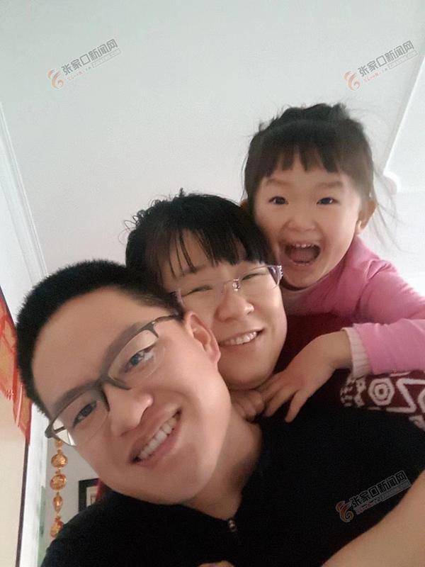 张文欣:非典那年我高考 幸福的一家三口。