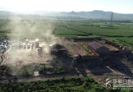 张家口市桥东区强拆违法占地建设4万平米