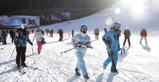 中国滑雪里程碑 万龙云顶通滑