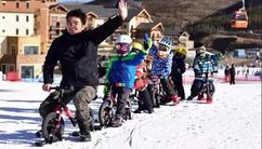 阳春三月骑车去!太舞杯首届雪地平衡车大赛开启