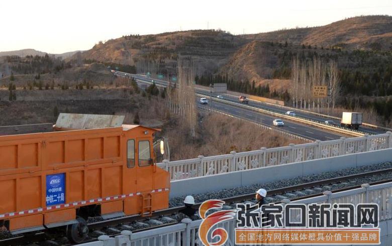 崇禮高鐵道砟補砟進入決戰階段