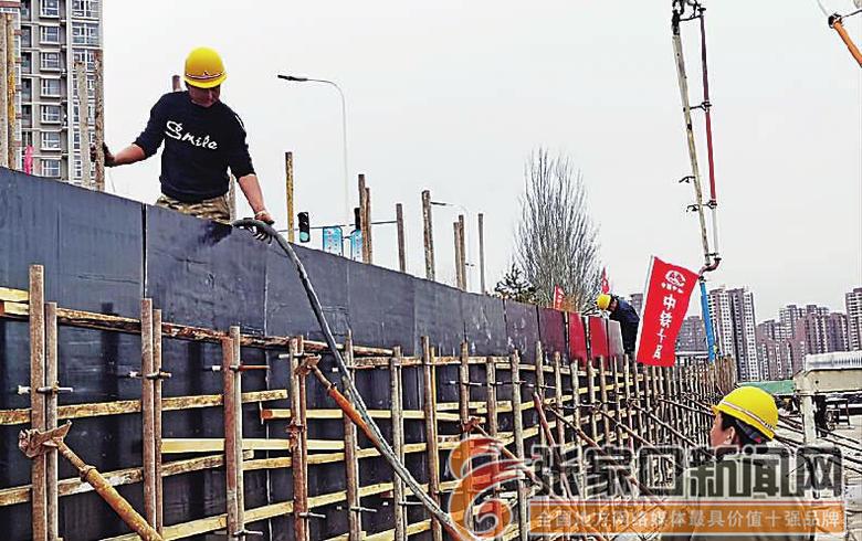 张家口纬二桥整体工程有序推进
