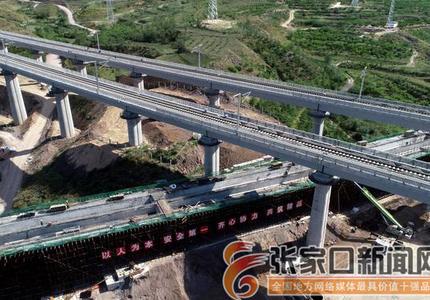 下花园下穿崇礼铁路立交桥现浇梁浇筑全面启动
