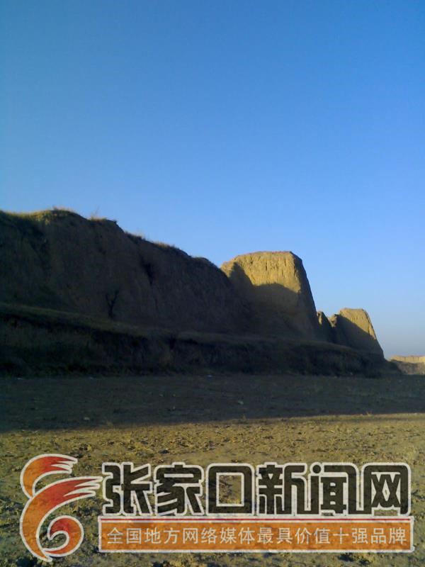 【名城古镇行】张家口前上营军堡:一个王朝的背影 阳光下依然坚挺的前上营军堡堡墙