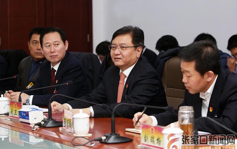 武卫东参加蔚县代表团审议