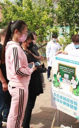 張家口市地病所開展碘缺乏病宣傳活動