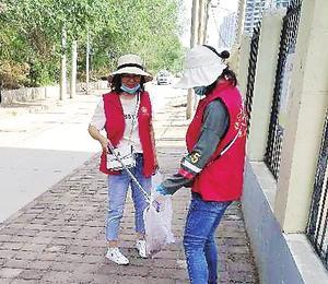 市第二十一中學 青年志愿者服務隊創城在行動