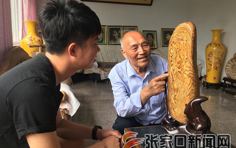 张万山收藏化石见证沧海桑田