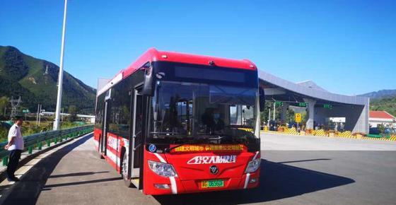 搭载亿华通自主发动机的氢能公交完成冬奥会赛区实地路测
