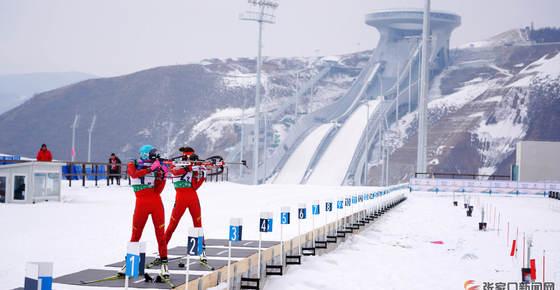全国冬季两项邀请赛男女混合接力赛开赛